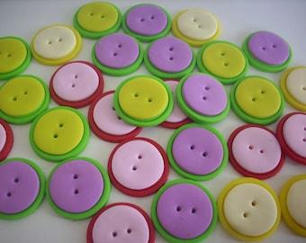 Button handmade polymer clay