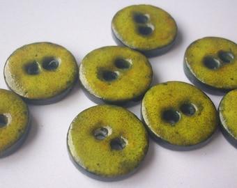 Button handmade polymer clay - 1.8 cm