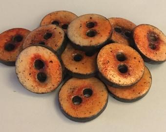 Button handmade polymer clay - 1.8 cm - handmade polymer clay button