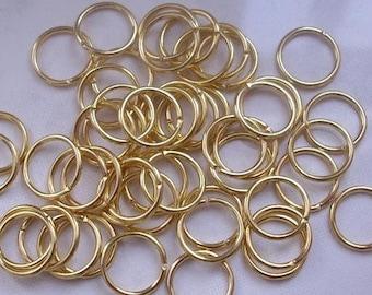 100 4x0.7 mm golden rings