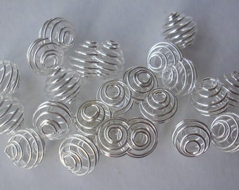 50 beads spiral CAGES 9 mm - Spiral Bead Cages
