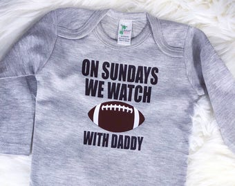 Football With Daddy Onesie, Sunday Football, NFL, Football Onesie, Sports Onesie, Baby Boy, Baby Girl, Baby Gift, Baby Shower, Infant