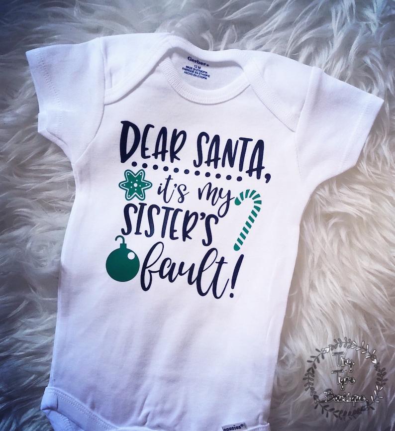 8989e0d1101c Dear Santa Christmas Onesie Boy Christmas Onesie Funny