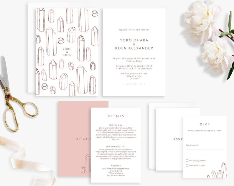 Wedding Invitation Suite Printable Wedding Invitation image 0