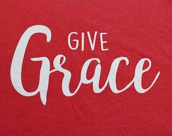 Give Grace Adult  T-Shirt