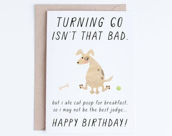 Pet Dad 60th Birthday Printable Cards Instant Download 60 Dog Card Funny Sixty For Lovers Him Her