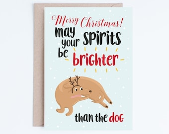 Printable Christmas Cards, Funny Dog Christmas Card Instant Download, Dog Lovers, For Wife, For Husband, Boyfriend, Girlfriend, Partner