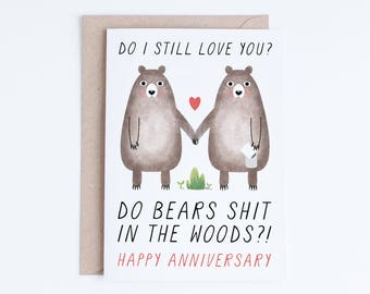 Printable Anniversary Cards, Instant Download Funny Anniversary Cards, Boyfriend, Girlfriend, Husband, Wife, Gay, Lesbian, Straight, Bears