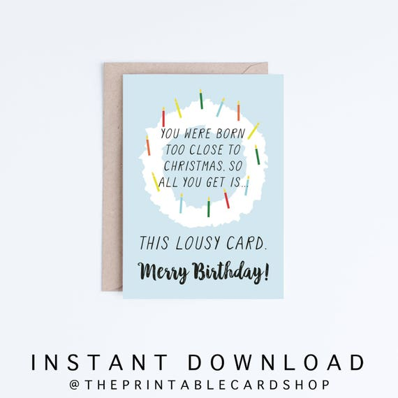 Merry Birthday Card Download Funny Printable