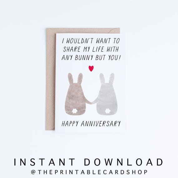 Printable Anniversary Cards Anniversary Digital Cards Happy | Etsy