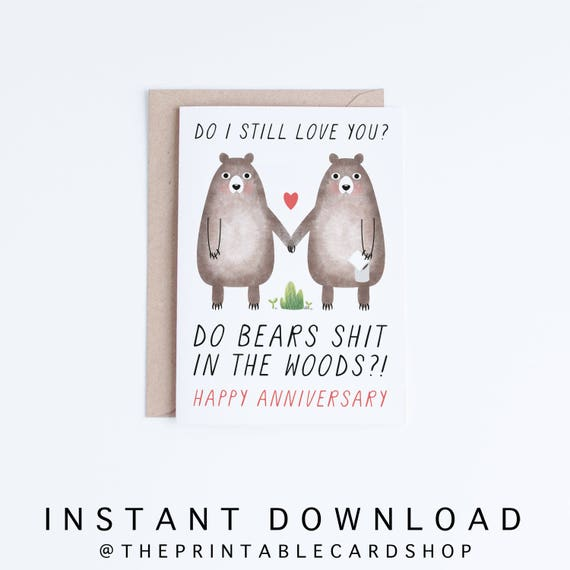 Printable Anniversary Cards Instant Download Funny | Etsy