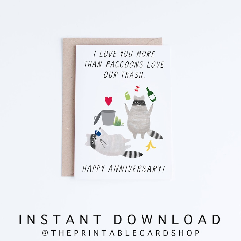 graphic about Printable Anniversary Cards for Husband known as Printable Anniversary Playing cards, Immediate Down load Amusing Anniversary Playing cards, For Boyfriend, Girlfriend, Partner, Spouse, Racs Example