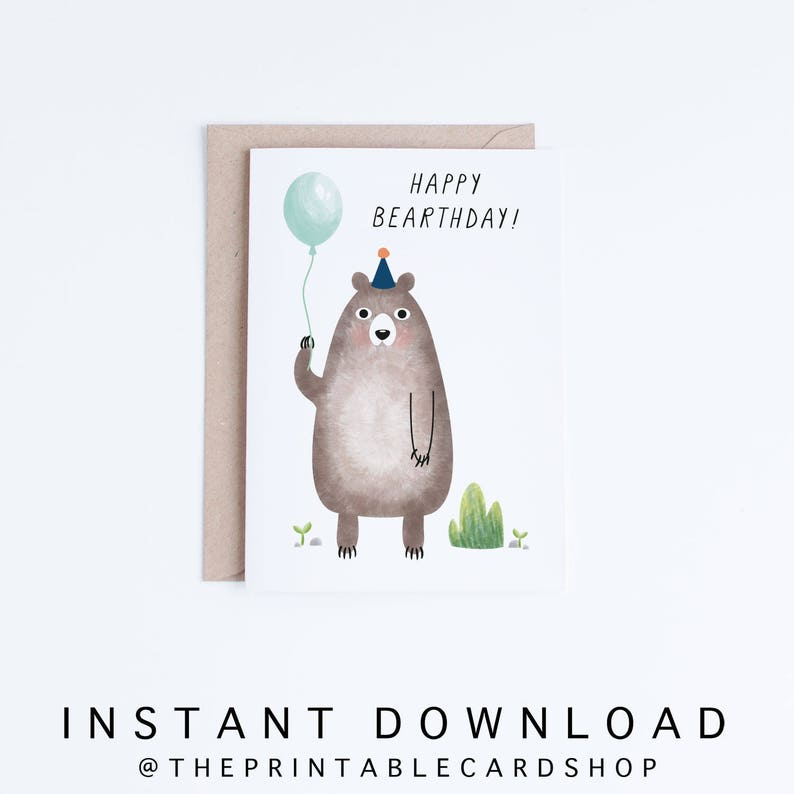 Printable Birthday Cards Kids Card Instant Download