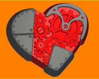 Mechanical heart plastic mold