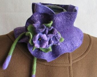 Scarf Collar boa Scarf felted Scarf wool Scarf women's