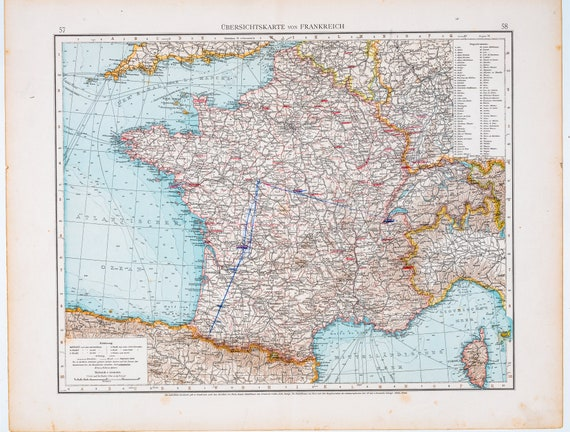 Map of France / Color map / Original / German World Atlas 1896 / Big Leipzig Germany On World Map on garmisch germany on map, auschwitz germany on map, osnabruck germany on map, schwangau germany on map, aachen germany on map, fussen germany on map, darmstadt germany on map, berchtesgaden germany on map, oldenburg germany on map, augsburg germany on map, marburg germany on map, grafenwoehr germany on map, bremen germany on map, rothenburg germany on map, karlsruhe germany on map, amsterdam germany on map, landstuhl germany on map, kiel germany on map, luneburg germany on map, kaiserslautern germany on map,