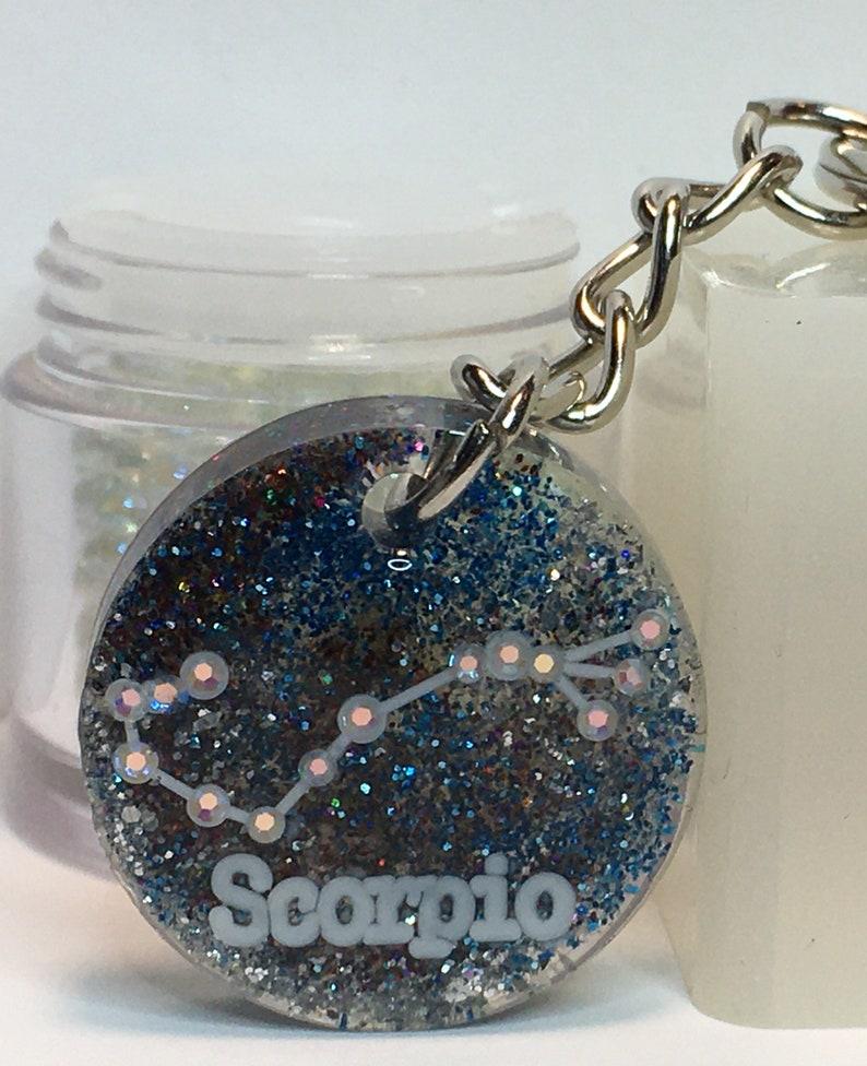 Scorpio Constellation Resin Keychain Pendent