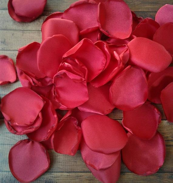 Red rose petals, red petals, red wedding, honeymoon, scatter petals, artificial petals, aisle runner decor, flower girl petals, petals, diy.