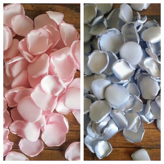 Pink and silver rose petals Elephant baby shower decoration centerpiece owl baby girl party decor home confetti toss aisle runner flower.