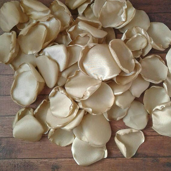Champagne wedding, rose petals, satin rose petals, wedding table decor, party decorations, scatter petals, flower petals, wedding toss.