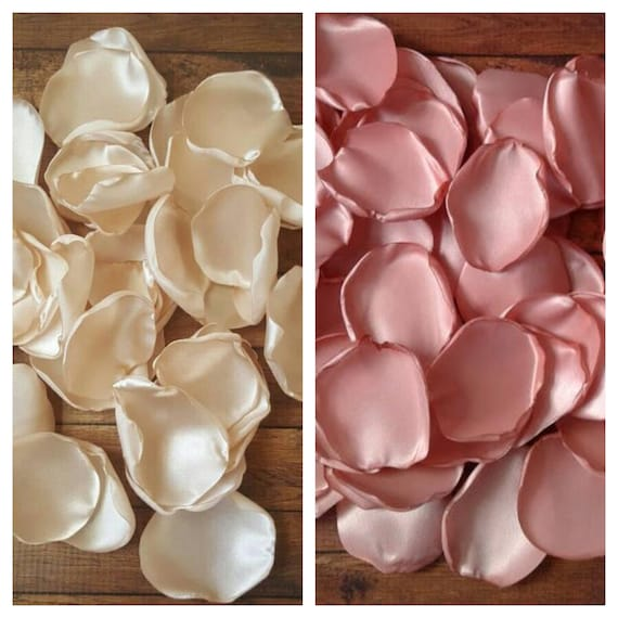 Champagne wedidng, Champagne rose petals, Rose Gold bridal shower, baby shower decor, modern baby shower, birthday decor for her.