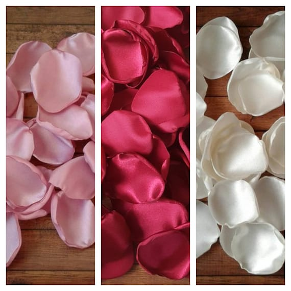 Dusty rose Ivory and Burgundy rose petals 80th birthday decoration 60th party ideas 30th decor supplies bridal shower barn western baby.