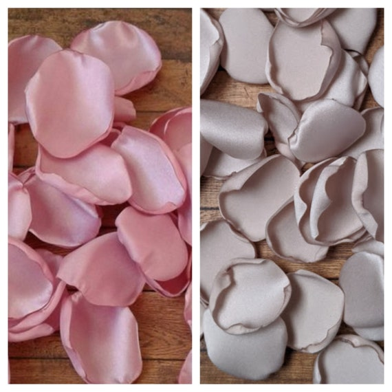 Teddy bear baby shower, baby girl baby shower, table decor, party decorations, rose petals, Dusty rose bridal shower, Taupe rose petals.