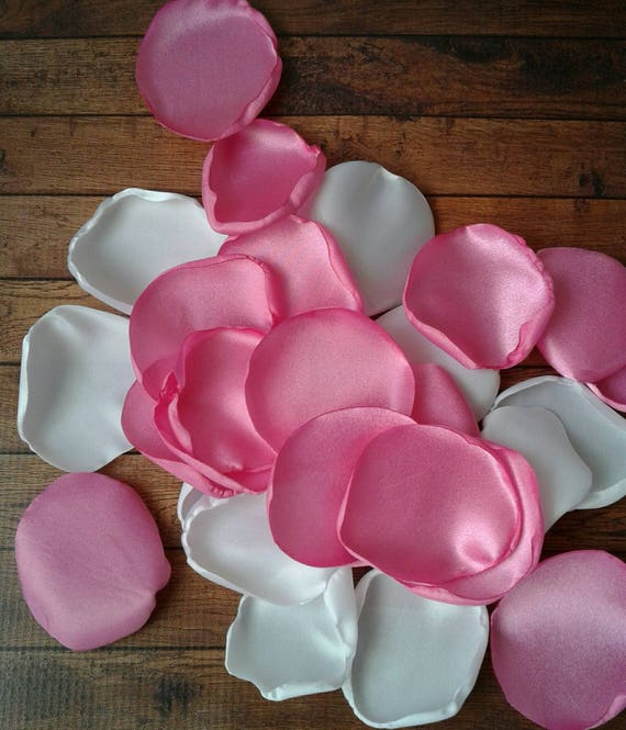 White and Pink wedding, baby girl shower decorations, rose petals, wedding toss, bridal shower decor, table decorations, party centerpieces.