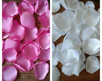 Baby shower decoration for girls, pink rose petals, baby girl shower, baby shower decor, satin rose petals, scatter petals, table decor.