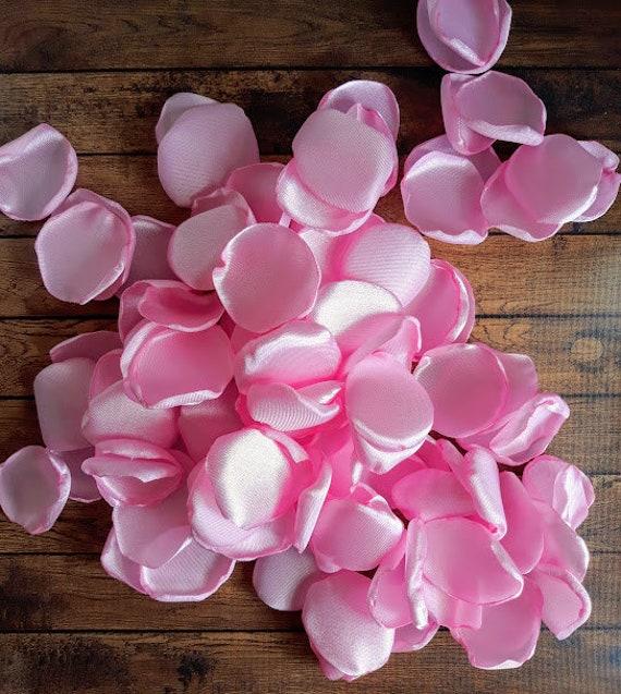 Light pink petals, light pink decor, party decor, pink wedding decor, Pink rose petals, satin rose petals, rose petals, wedding petals, diy.