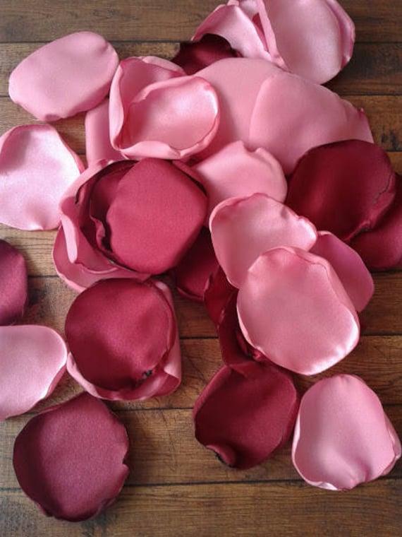 Cranberry rose petals, Dark rose wedding, rose petals, Rose wedding decor, artificial rose petals, wedding decor, rose petals wedding.