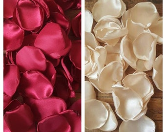 Champagne and Burgundy wedding decorations, centerpieces for wedding, party decorations, aisle runner decor, flower girl accessories.