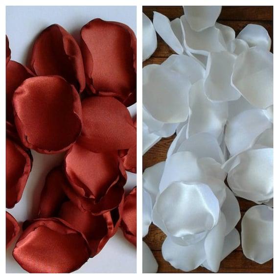 Rust rose petals, ffall wedding decor, rustic bridal shower, table decor, flower petals, aisle runner decor, centerpieces, home decor.