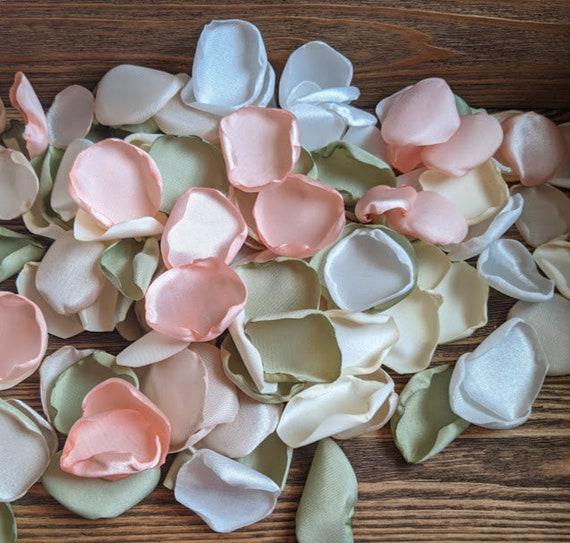 Sage and peach wedding, wedding decor, peach wedding, flower girl, bridesmaid boxes, vase fillers, wedding centerpieces, party decor.