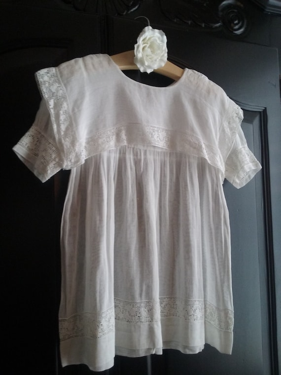 Vintage French Christening Dress