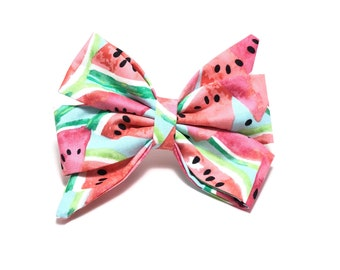 Dog Girly Bow Bell Collar Bows Over The Watermelon For Dogs Aspen