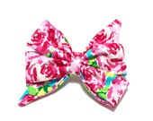 Dog Girly Bow Girly Dog Bow Bell Bow, Collar Bows, Over The Collar, Dog Bows, Floral Dog Bow, Bows for Dogs, The Olivia