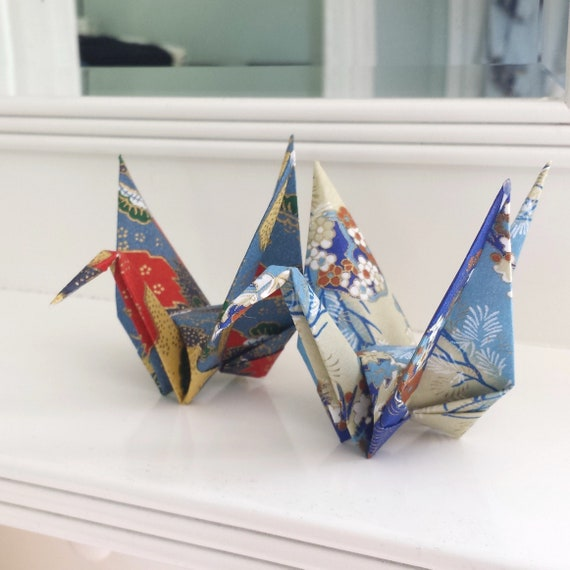 Pair Of Origami Cranes Unique First Anniversary Gift Etsy