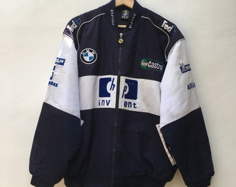 a50cb3b90e7 F1 Racing Jacket BMW WILLIAMS Blue White Full Embroidery F1 Team