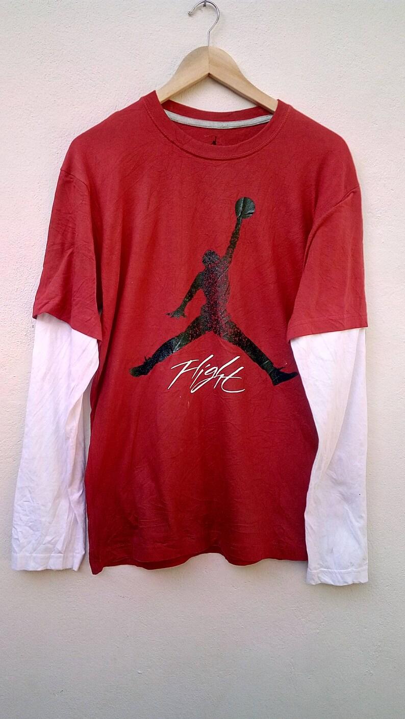 10cd35d8f909 Vintage NIKE Air Jordan Long Sleeve tee shirt   90 s
