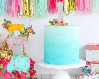 Ombre Textured Cake- Fake cake, prop cake, party decor