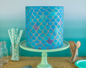Ready To Ship Mermaid Scales Cake- Fake cake, prop cake, party decor