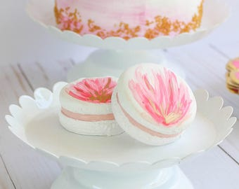 Floral Macarons