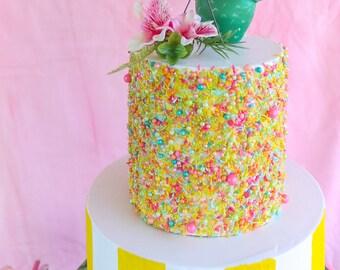 Ready To Ship Palm Springs Sprinkle Cake- Fake cake, prop cake, party decor