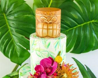 Tiki Head Cake- Fake cake, prop cake, party decor