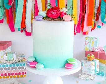 Ombre Cake- Fake cake, prop cake, party decor