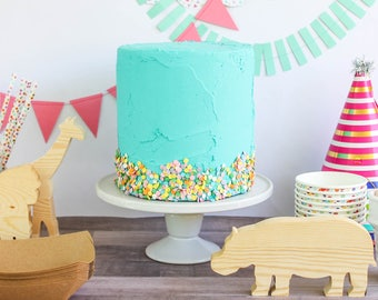 Partial Sprinkle Cake Fake Prop Party Decor