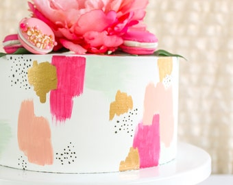 Modern Brushstroke Cake- Fake cake, prop cake, party decor