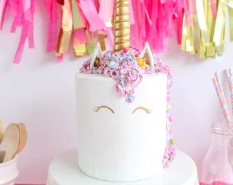 Unicorn Cake Fake Prop Party Decor