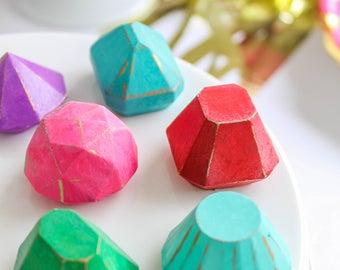 Rainbow Gem Chocolates- Fake candy, prop candy, party decor